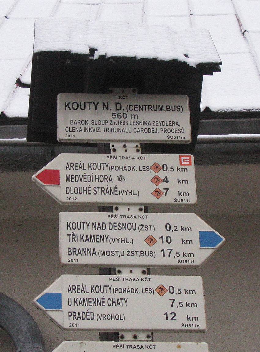 KOUTY N.D. ( CENTRUM,BUS) 560m